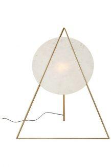 60228 KARE Podna Lampa Triangle Mermerna Bela