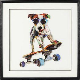 60786 Slika Art Skater Dog 65x65cm