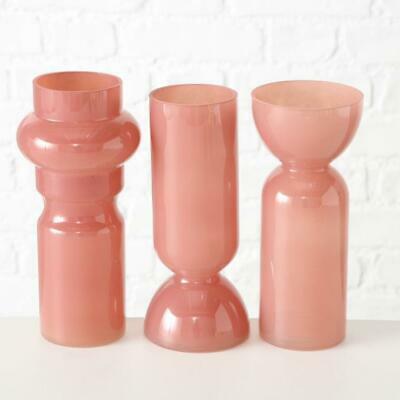 BOLTZE-Vase-Lizette-3sort-H25cm-rosa