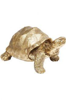 61959 Figura Turtle zlatna 40cm